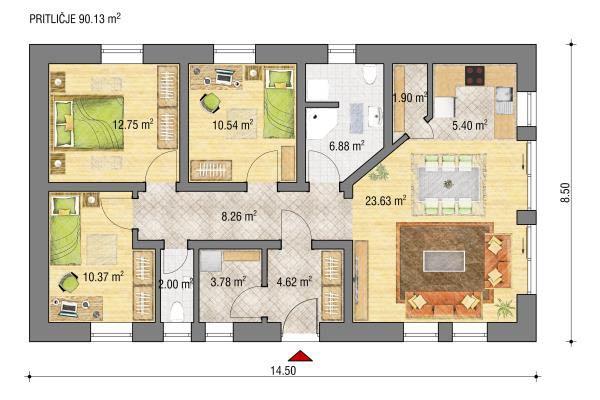 Zasnova hiše Metka