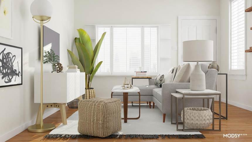 Odlagalne mizice najdejo svoj prostor tudi v majhni dnevni sobi