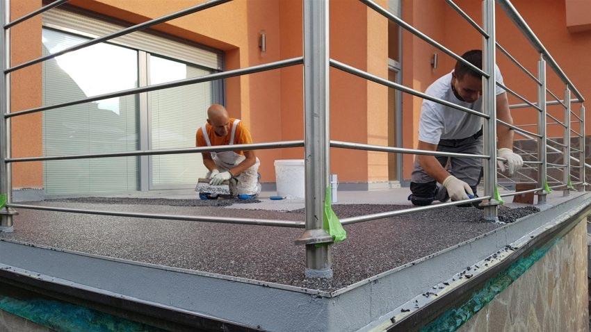 Izvedba strokovne hidroizolacije terase
